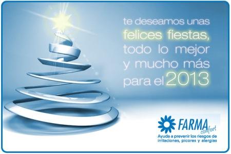Farmaconfort :os deseamos unas felices fiestas y todo lo mejor para el 2013
